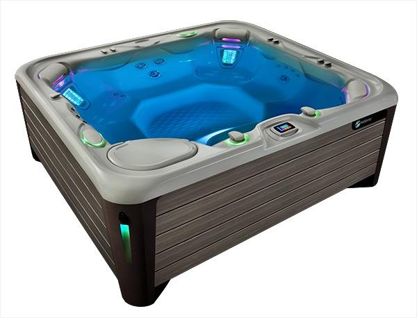 3e745acc7b5 image of a highlife grandee hot tub full of water with no people