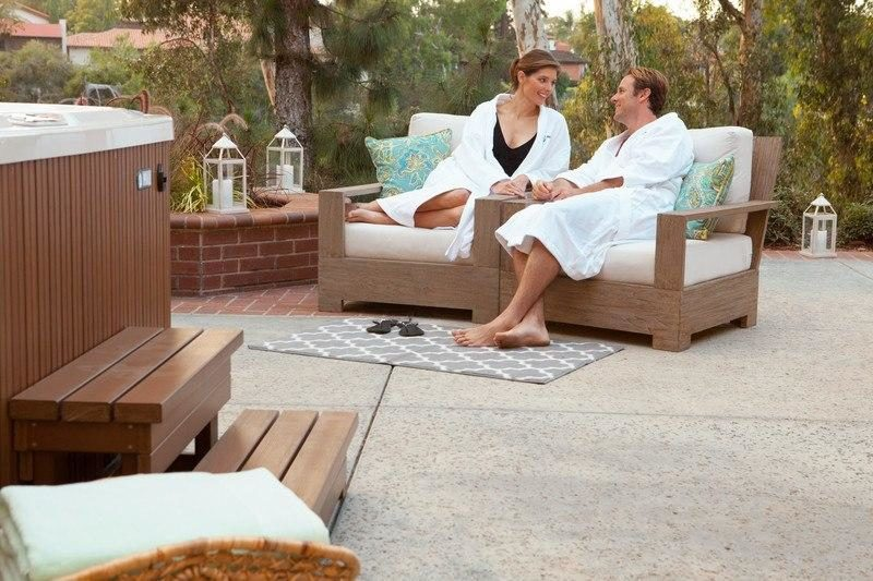 Your new hot tub can be the centerpiece of your patio set