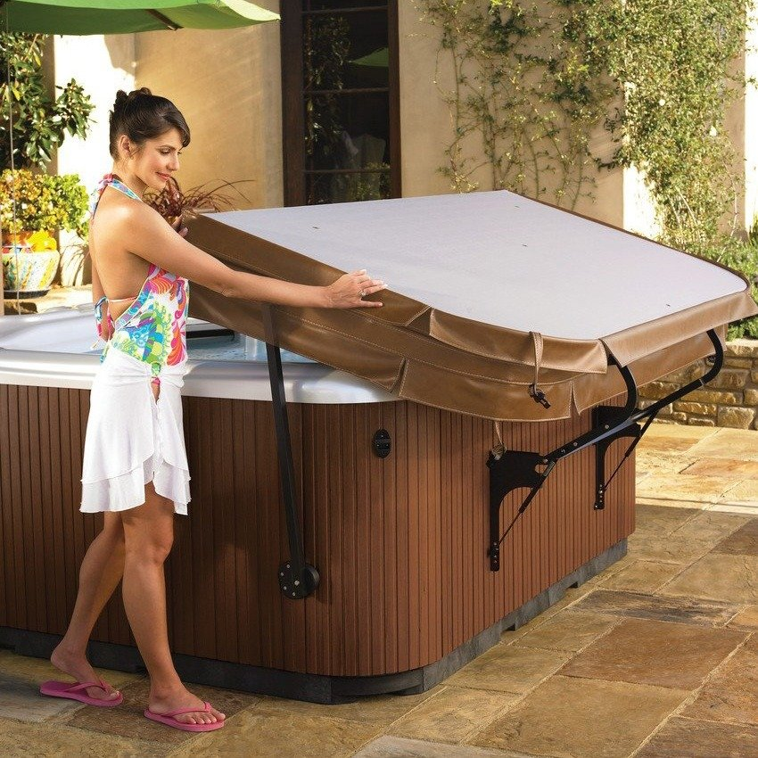 Hot Spring cover lifters are the perfect accessory for your dream spa.