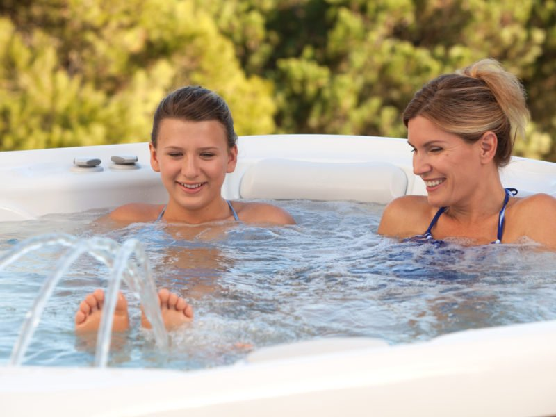 Spend family time in your new Hot Spring hot tub in 2019.