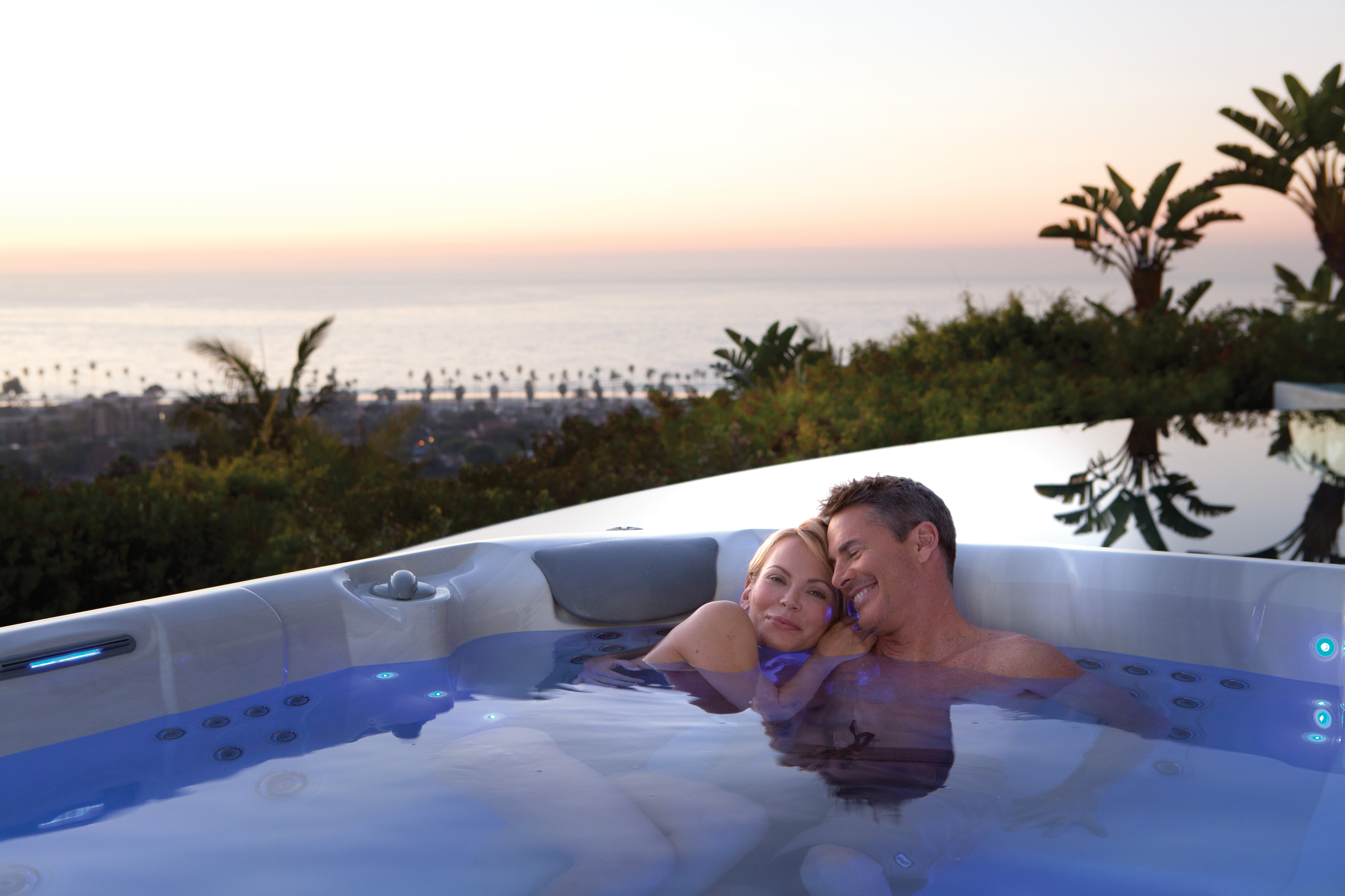 A Valentine's Day hot tub surprise soak is the perfect way to build intimacy.