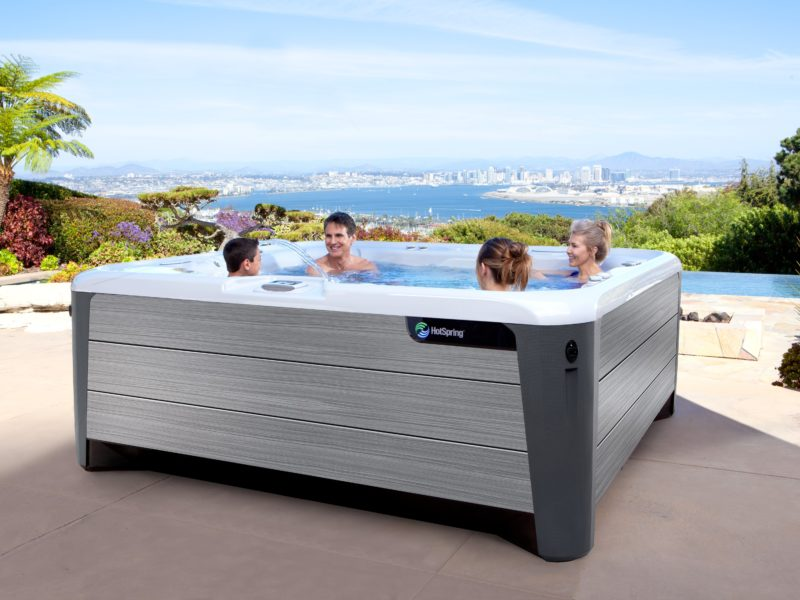 What water care options get you as close as possible to a chemical-free hot tub?