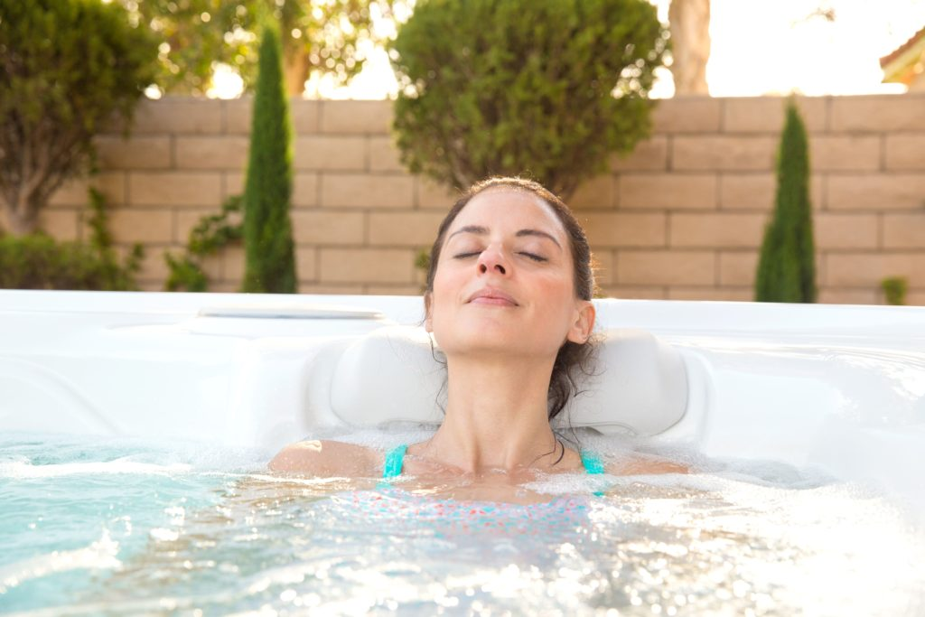 A trip to the hot tub before bed can help ease you into sleep.