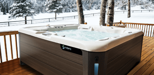 Using Hot Tub In Winter Hot Spring Spa